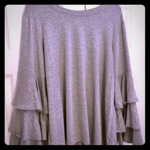 NY Collection Women 2X Gray Tunic